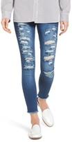 Hue Women's Ripped Denim Skimmer Leggings