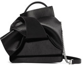 No.21 No. 21 - Knot Satin Shoulder Bag - Black