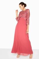 Little Mistress Brooke Crochet Top Maxi Dress
