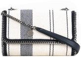 Stella McCartney striped Falabella shoulder bag - women - Cotton/Acrylic/Viscose - One Size