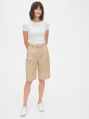 Gap High Rise Belted Bermuda Shorts