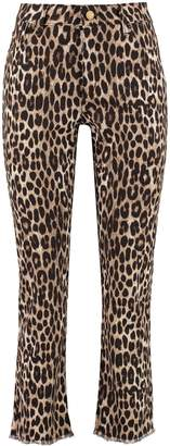 MICHAEL Michael Kors Leopard Print Skinny-fit Denim Trousers