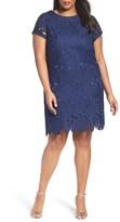 Ellen Tracy Plus Size Women's Lace Shift Dress