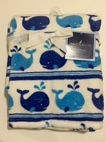 Nautica Kids Under the Sea Ocean Life Whales Plush Baby Blanket by