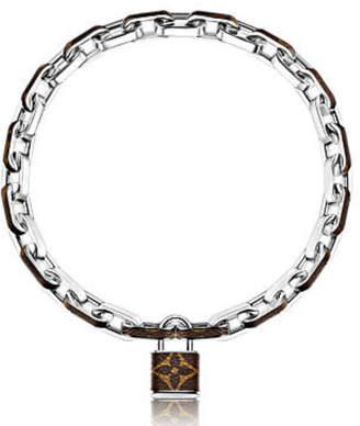 Louis Vuitton Lock Necklace Monogram Silver