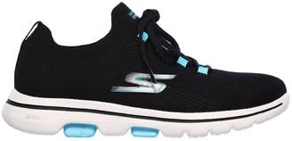 Skechers Go Walk 5 Trainers - Black/Turquoise