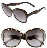 Victoria Beckham Women's Happy 60Mm Butterfly Sunglasses - Bordeaux Grey