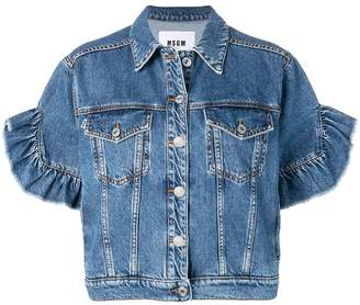 MSGM short sleeved denim jacket