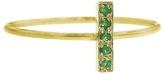 Jennifer Meyer Emerald Bar Ring - Yellow Gold