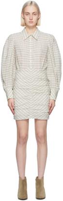 Isabel Marant Off-White Filanua Puff Sleeve Dress
