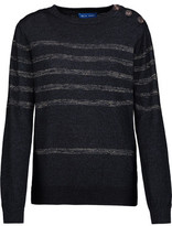 MiH Jeans Sophia Breton Metallic Striped Cotton-Blend Sweater