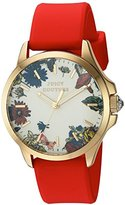 Juicy Couture Women's 'Jetsetter' Quartz Gold-Tone and Silicone Automatic Watch, Color:Red (Model: 1901325)