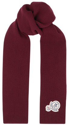 Moncler Wool-Cashmere Rib-Knit Scarf