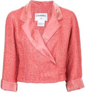 Chanel Pre-Owned wrap tweed jacket