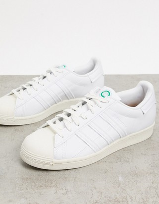 adidas Clean Classics Sustainable Superstar trainers in white