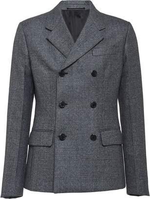 Prada Prince of Wales check tailored blazer