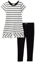 Splendid Stripe Tunic & Legging Set (Little Girls)