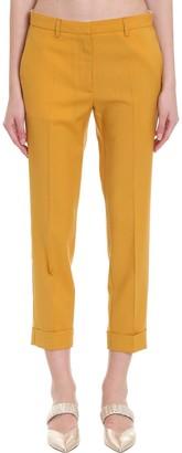 Mauro Grifoni Pants In Yellow Wool