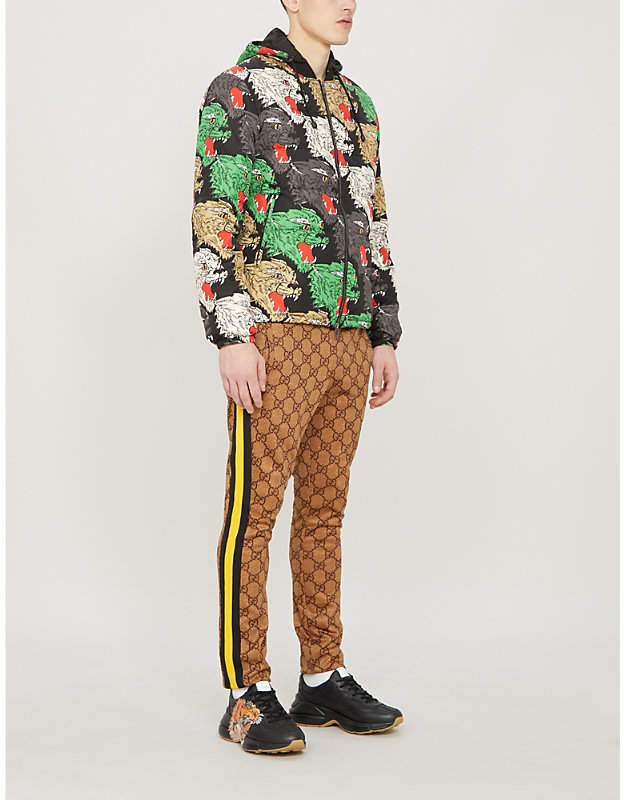 Gucci Angry Panther padded shell jacket