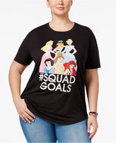 Hybrid Trendy Plus Size Squad Goals Princess Graphic T-Shirt