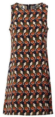 Dorothy Perkins Womens Izabel London Multi Coloured Retro Print Shift Dress