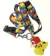Pokemon Pikachu With Cap Lanyard