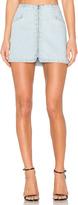 Paige Rosie HW x Hattie Embroidered Zip Skirt
