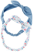 Osh Kosh 2-Pack Chambray & Floral Headwraps