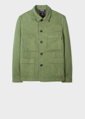 Paul Smith Men's Washed Green Organic Cotton Chore Jacket