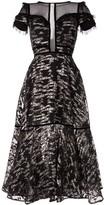 Saiid Kobeisy metallic short sleeve midi dress