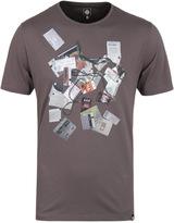 Pretty Green Stubbs Graphic Grey Short Sleeve T-shirt