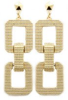 Roial Link Earrings Gold