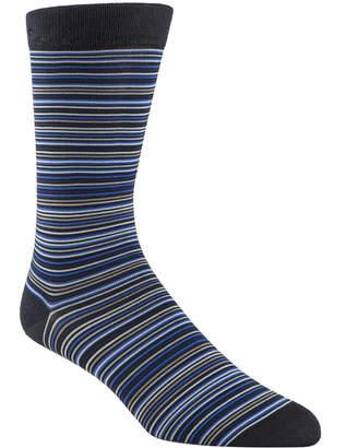 Cole Haan Men Multi Stripe Crew Socks