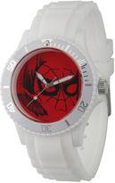 Marvel Mens Spiderman White Rubber Strap Watch