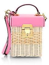 Mark Cross Women's Grace Cube Rattan Crossbody Bag