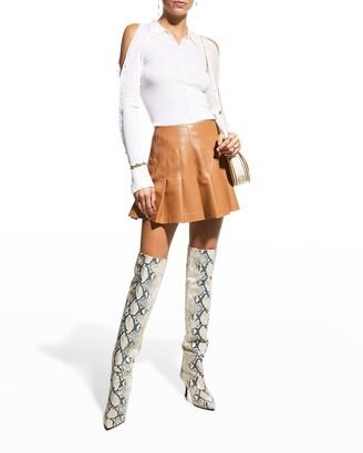 Carter Vegan Leather Pleated Mini Skirt