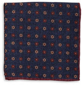 Black Brown 1826 Patterned Dot Pocket Square