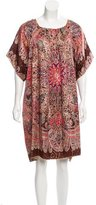 Anna Sui Metallic Printed Dress