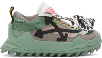 Off-White Green and Black Odsy-1000 Low-Top Sneakers