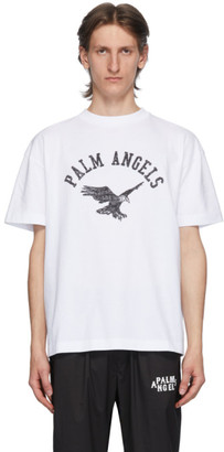 Palm Angels White College Eagle T-Shirt