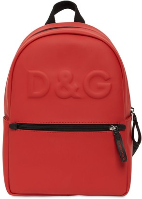 Dolce & Gabbana Embossed Logo Backpack