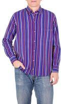 Men's Striped Handwoven Guatemalan Cotton Long Sleeve Shirt, 'Colorful Guatemala'