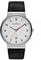 Skagen Klassik Men's Three-Hand Date Leather Watch