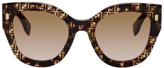 Fendi Tortoiseshell Forever Square Sunglasses