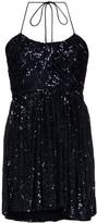 Saint Laurent sequin halter-strap mini dress