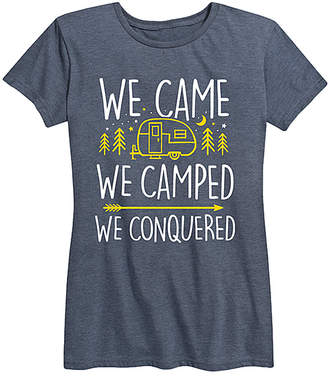 Instant Message Women's Women's Tee Shirts HEATHER - Heather Blue 'We Came We Camped' Relaxed-Fit Tee - Women