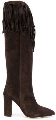Paris Texas Fringed Suede Boots