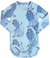Mini Rodini Lions Organic Cotton Jersey Bodysuit