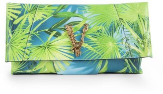 Versace Virtus Jungle-Print Leather Clutch