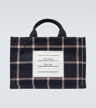 Thom Browne Checked wool tote bag